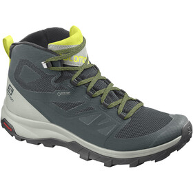 Salomon OUTline Mid GTX Scarpe Uomo, green gables/mineral gray/evening primrose